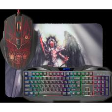 Клавиатура + мышь + коврик Defender Anger
