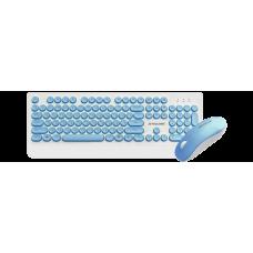 Клавиатура + мышь Jet.A Slim Line KM39 W White/Blue