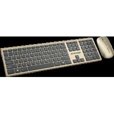 Клавиатура + мышь Jet.A Slim Line KM41 W Gold/Black