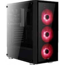 Корпус ATX AeroCool Quartz, Midi-Tower, без БП, Red