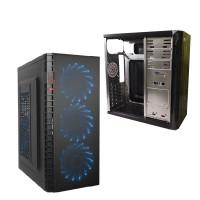 Корпус ATX DeTech C3131S, Midi-Tower, без БП, USB 2.0, Blue